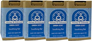 product image for Green Goo Natural Skin Care Honey and Oatmeal Soothing Bar Soap, 3.75-Ounce, 4-Pack