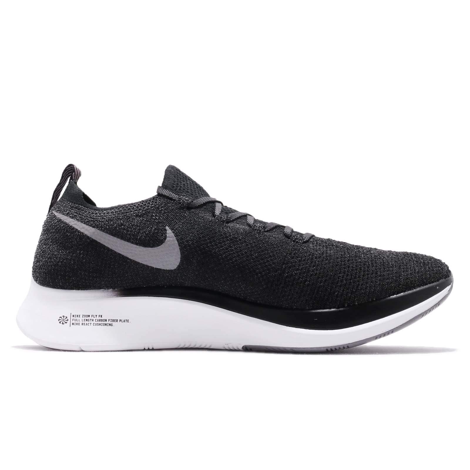 Nike Zoom Fly Flyknit Men's Running Shoe Black/Gunsmoke-White Size 7.5 by Nike (Image #2)