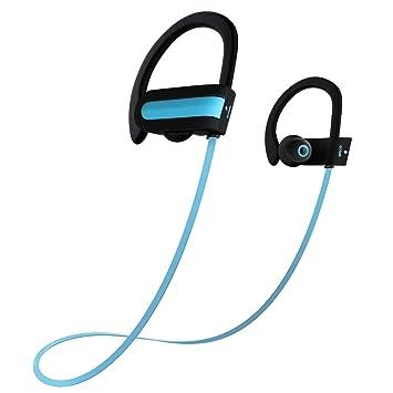 Auriculares inalámbricos Bluetooth, Otium® Deportes auriculares inalámbricos estéreo bajo Sweatproof auriculares de botón Auriculares con micrófono y ...