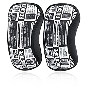 RockTape Knee Sleeves, 2-Pack, Competition Grade, 5mm or 7mm Thickness, Compression Neoprene, Extra Long for VMO Support