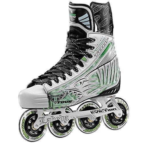 Tour Mens Boots - Tour Hockey Pro Fish Bonelite Inline Hockey Skate, White, 11