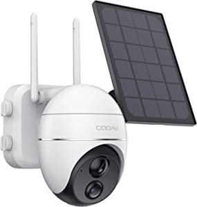 Security Camera Outdoor, Wireless WiFi 360° Pan Tilt Zoom Solar 15000mah Battery Powered Home Cameras with Night Vision, Motion Detection, 2 Way Audio, IP65 Waterproof, Encrypted SD/Cloud Storage