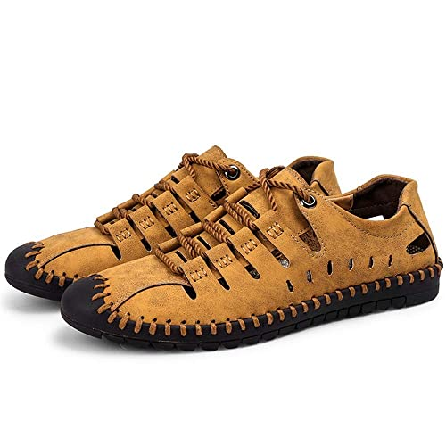 Mocasines con Cordones para Hombre Zapatos de conducción Respirables Ocasionales sin Slip para Hombre: Amazon.es: Zapatos y complementos