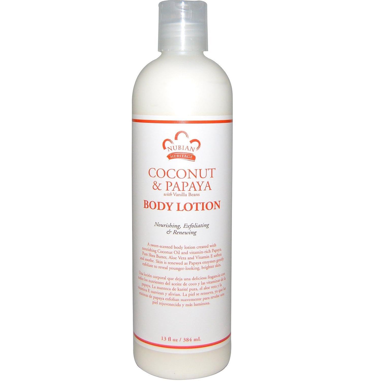 Amazon.com: Nubian Heritage Coconut & Papaya Body Wash and Body Lotion Bundle, With Coconut Oil, Shea Butter, Aloe Vera, Vitamin E and Vanilla Bean Extract, ...