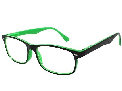 TBOC Gafas de Lectura Presbicia Vista Cansada – Graduadas +2.50 Dioptrías Montura de Pasta Bicolor Verde y Negra Diseño Moda para Hombre Mujer Unisex ...