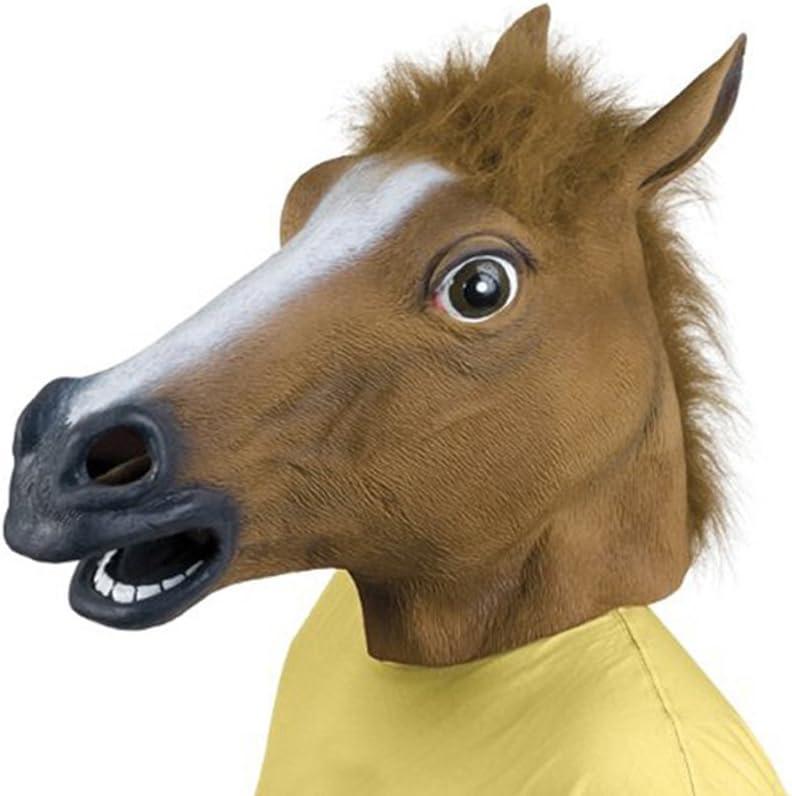 Queenshiny OUFA Juguete Máscara de Caucho Látex de la Cabeza de Caballo para El Partido de Halloween