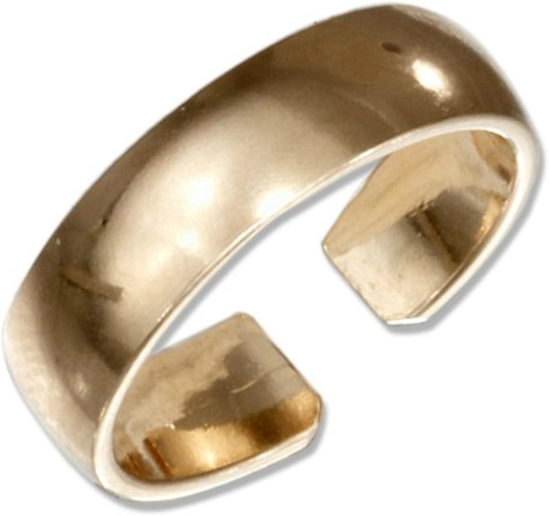Plain Toe Ring Genuine Sterling Silver 925 Width 6mm Best Jewelry USA Seller