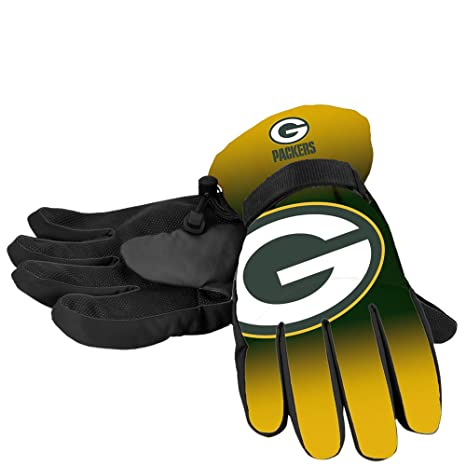 8b3af2055b5 Forever Collectibles NFL Green Bay Packers Insulated Gradient Big Logo  Gloves, Team Colors, Small