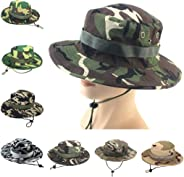 WINJUD Mens Sun Hat Camouflage Adjustable Cap Outdoor Sun Protection Hunting Hiking Fishing Cap