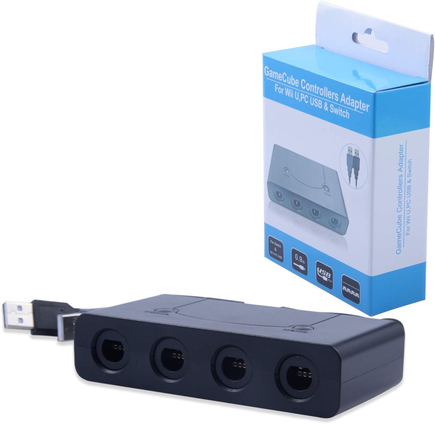 Gamecube - Adaptador de Mando para Super Smash Bros Nintendo Switch, Wii U y PC USB con 4 Puertos: Amazon.es: Electrónica