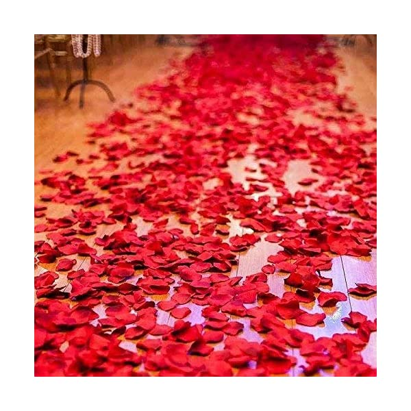 chuangxindaye 2016 PCS Dark Silk Rose Petals Wedding Flower Decoration Artificial Red Rose Flower Petals for Wedding Party Favors Decoration and Vase Home Decor Wedding Bridal Decoration