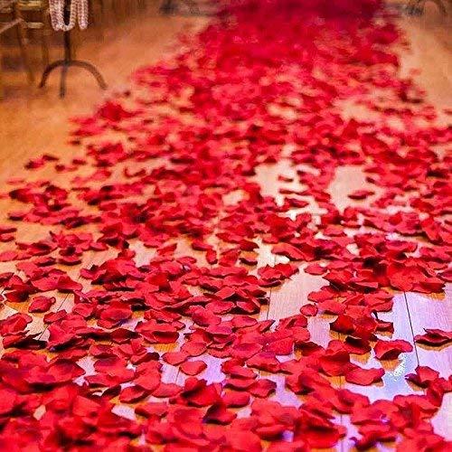 2016 PCS Dark Silk Rose Petals Wedding Flower Decoration Artificial Red Rose Flower Petals for Wedding Party Favors Decoration and Vase Home Decor Wedding Bridal Decoration