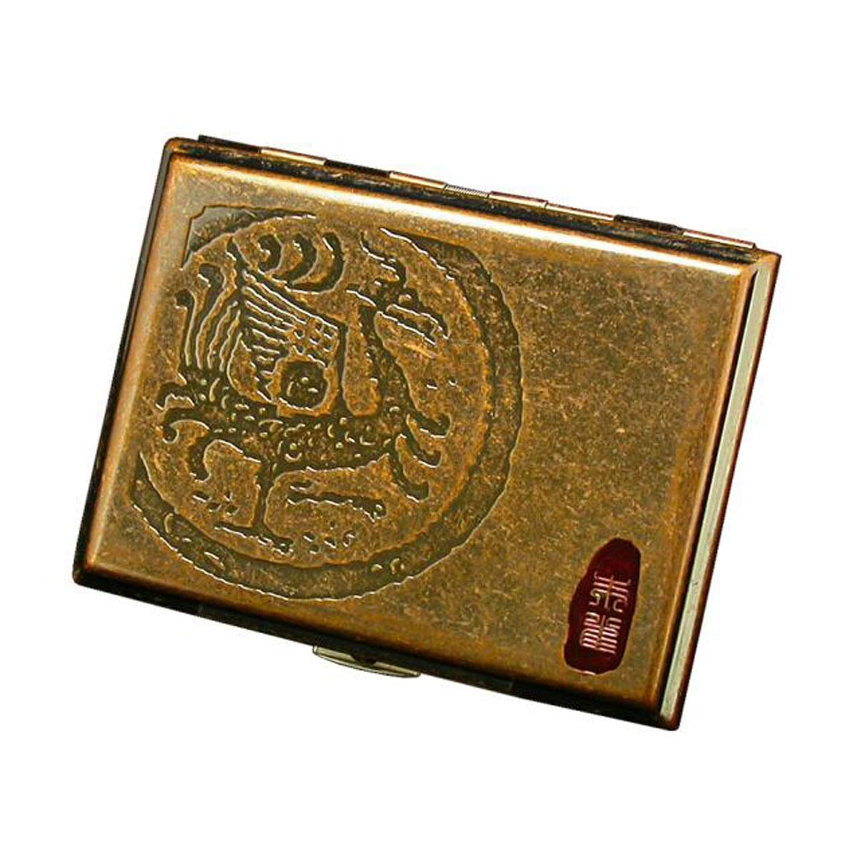 KALMAR Cigarette Holder, Cigarette Case, Copper Cigarette Case, 16 Cigarette Holders Cigarette Box Cigar Protective Cover (Style : B)