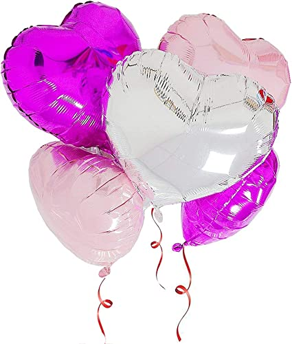 Pink Blue Plastic Heart Star Shape Balloons Weight For Birthday Wedding Ribbons