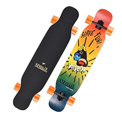 Aniseed Skateboards Longboard Skateboard Deck Complete Little New Double Kick 9.1-Inch X 42.0-Inch : Sports & Outdoors