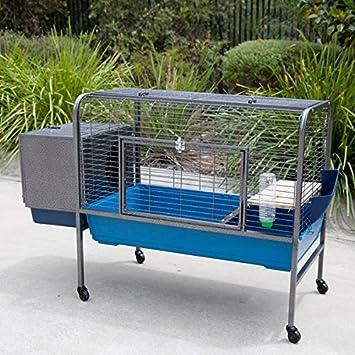 Excellent Amazon.com : Flyline Rabbit Guinea Pig Cage on Wheels large : Pet  NL87