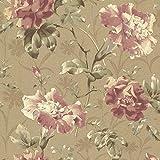 Beacon House 2614-21003 Juliana Vintage Floral Wallpaper, Bronze