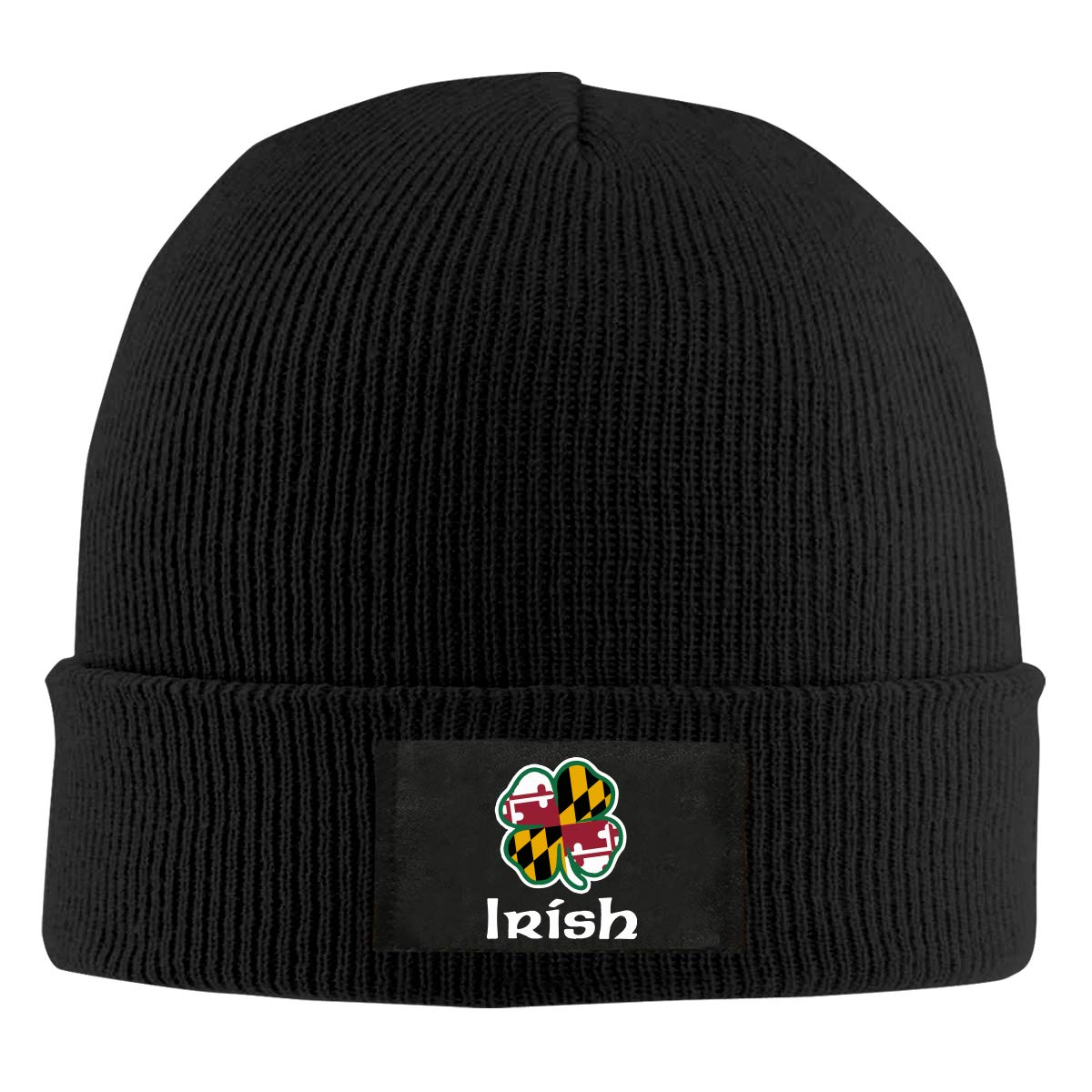 100/% Acrylic Thick Beanies Cap BF5Y6z/&MA Mens and Womens Maryland Flag Shamrock Irish Knitted Hat