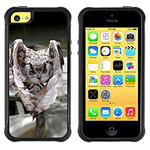 ZETECH CASES / Apple Iphone 5C / EVIL ATTACK OWL / Mal Ataque Búho / Robusto Caso Carcaso Billetera Shell Armor Funda Case Cover Slim Armor