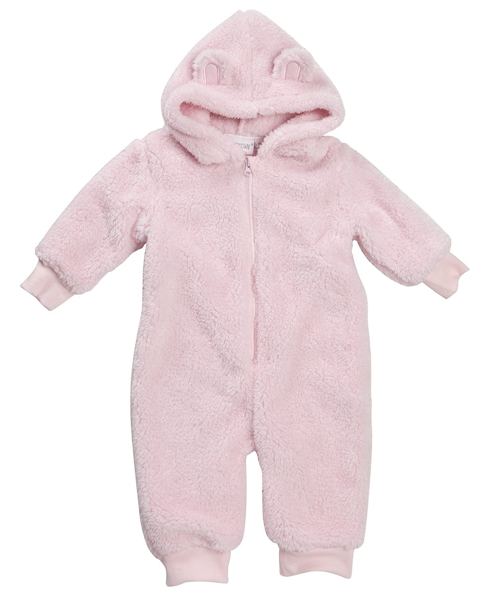 BABY TOWN Baby Soft Snuggle Hooded All in One ~ Newborn to 12 Months