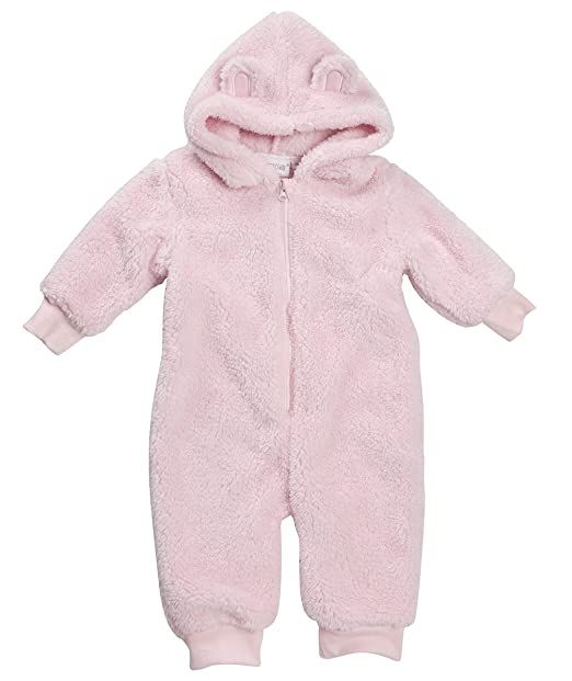 44a748120a0c Amazon.com  BABYTOWN Unisex Newborn Infant Hooded Snuggle Fleece All ...