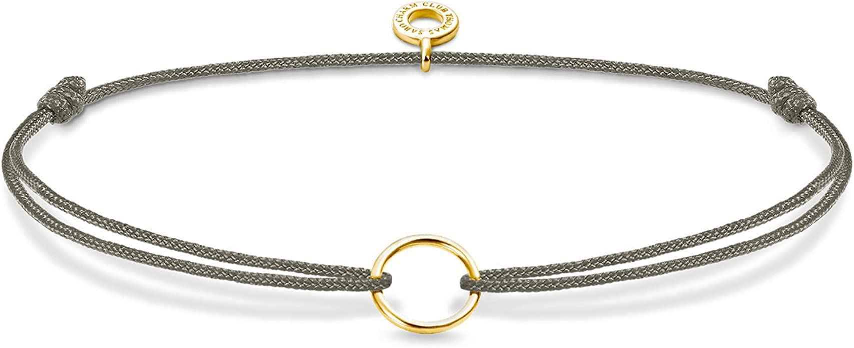 "THOMAS SABO Armband /""Little Secret Kreis/"" Silber vergoldet grau LS067-848-5"