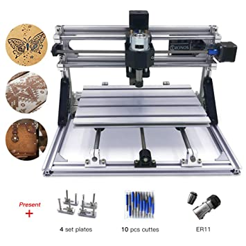 Amazon.com: CNC 3018 máquina de grabado láser, DIY CNC de ...