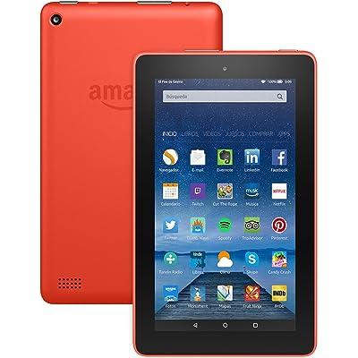 "Tablet Fire, pantalla de 7"" (17,7 cm), Wi-Fi, 16 GB (Naranja) - incluye ofertas especiales"