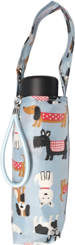 Watercolor Mini Norwich Terrier Dogs Semi-Automatic Foldable Umbrella