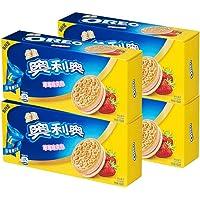 奥利奥缤纷双果味夹心饼干 金装草莓味194g*4盒