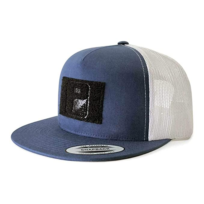 5323cb6a59e52f Pull Patch Tactical Hat Authentic Snapback, Navy Blue And White ...