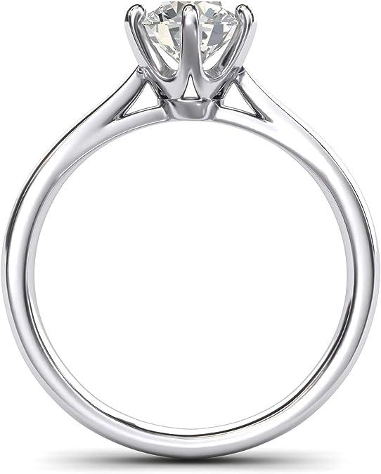 1.60 Quilates De Diamante Anel De Noivado Real sólidos Prata Esterlina 925 Aliança De Casamento