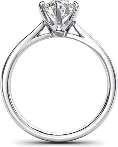 AAAAA Cr Diamond five stone ring in platinum over Sterling Silver