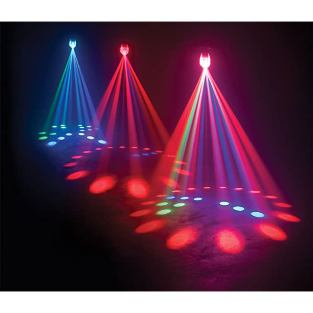 American Dj Supply Jelly Jewel Led Color Changing RGB Led Moonflower Sound Active