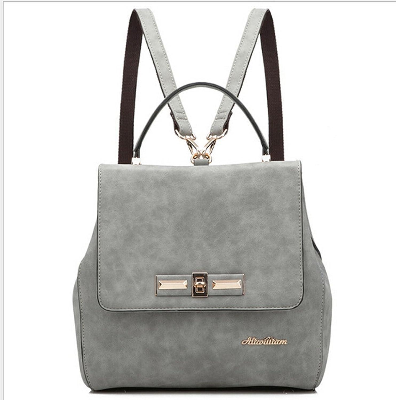 S-BBG Womens Fashion Handbags Leather Shoulder Bag Cute Top-handle Backpacks