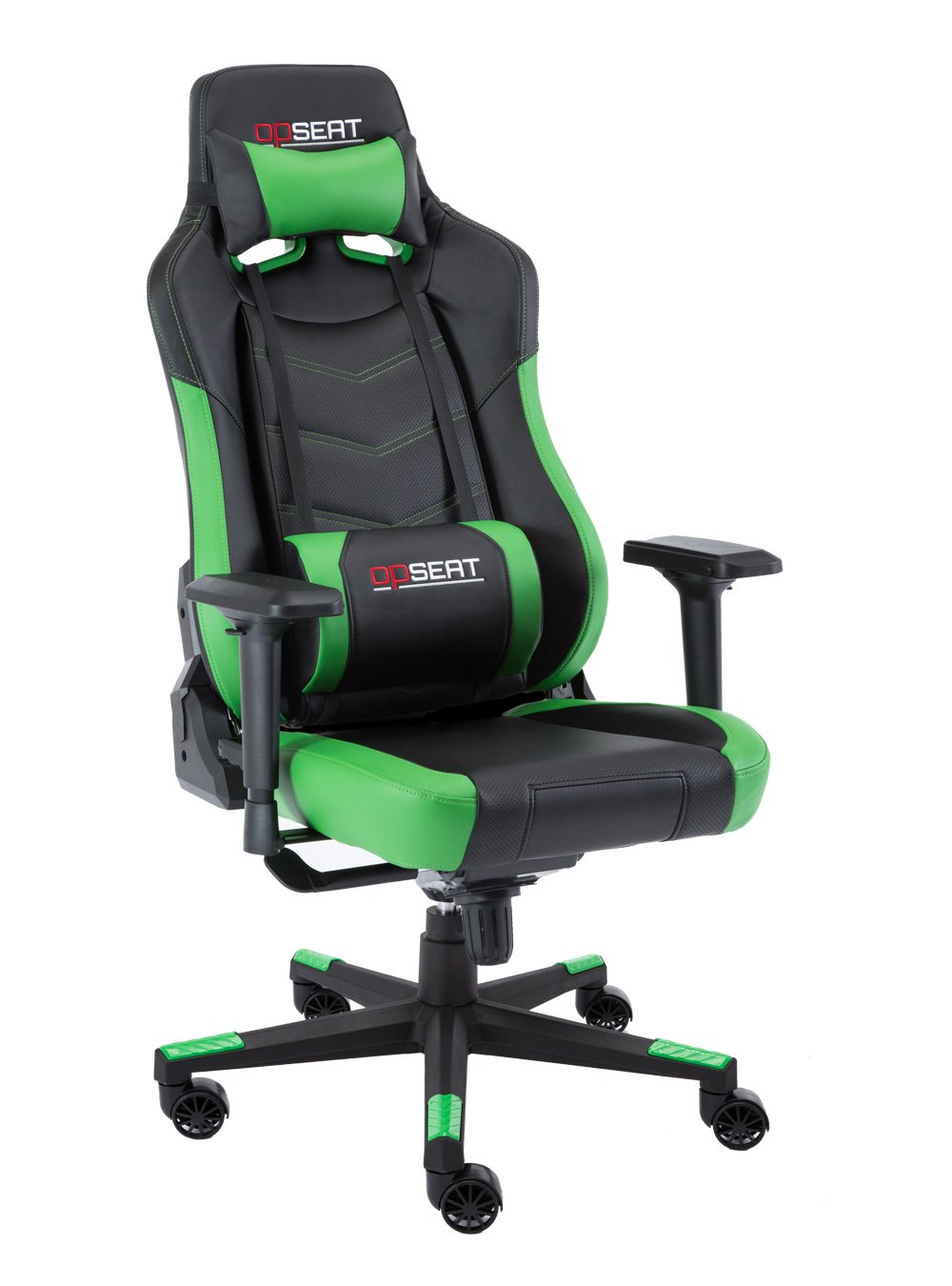 OPSEAT Grandmaster Series 2018 Computer Gaming Chair Racing Seat PC Gaming Desk Office Chair - Green