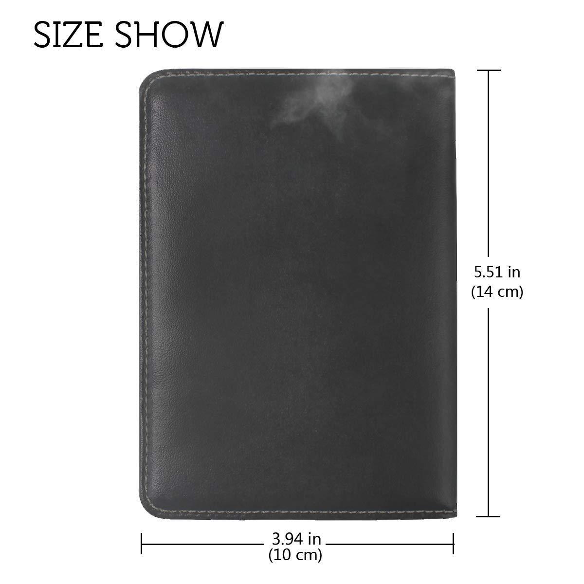 Plane Bw Sky Leather Passport Holder Cover Case Travel One Pocket