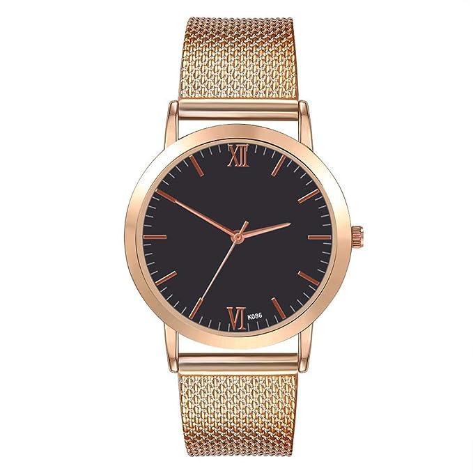 Darringls_Reloj zhoulianfa,Relojes Mujer Moda Reloj de Pulsera Redondo de Cuarzo Inoxidable Relojes Mujer analógico de Moda para Mujer de Acero: Amazon.es: ...