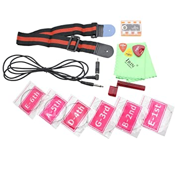 Andoer® 9-en-1 Amp Juego de Accesorios Kit para Guitarra eléctrica con