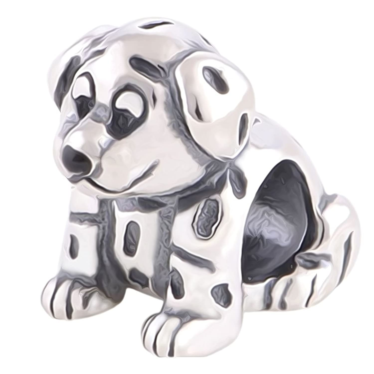 [Sponsored]Dalmatian Puppy Dog Charm Bracelet Bead - Sterling Silver 925 - Gift boxed AbgF8T