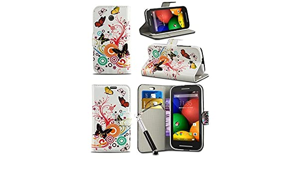 Amazon.com: KACE Vodafone Smart Turbo 7 / Vfd 500 - Fun Colourful Printed Wallet Case Cover Creative Fresh Pattern Design With Integrated Stand ...