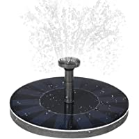 Lixada Solar-power Fountain Brushless Pump Plants Watering Kit with Monocrystalline Solar Panel for Bird Bath Garden Pond Energy-saving Environmental-friendly Universal