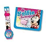 Set Regalo Orologio Digitale e portafoglio di Minnie Mouse