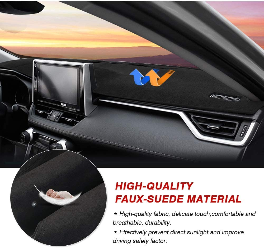 Cartist Dashboard Mat Cover Dash Cover Nonslip Dashboard Mat Protector Sunshade No Glare for Toyota RAV4 2014 2015 2016 2017 2018
