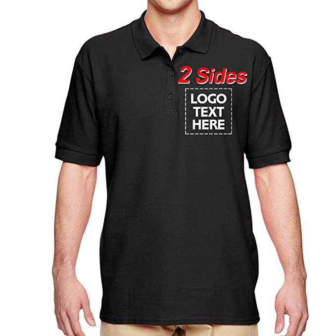 Custom Polo Shirts Design Your Own for Men Two Sided Print Logo Text 13  Colors