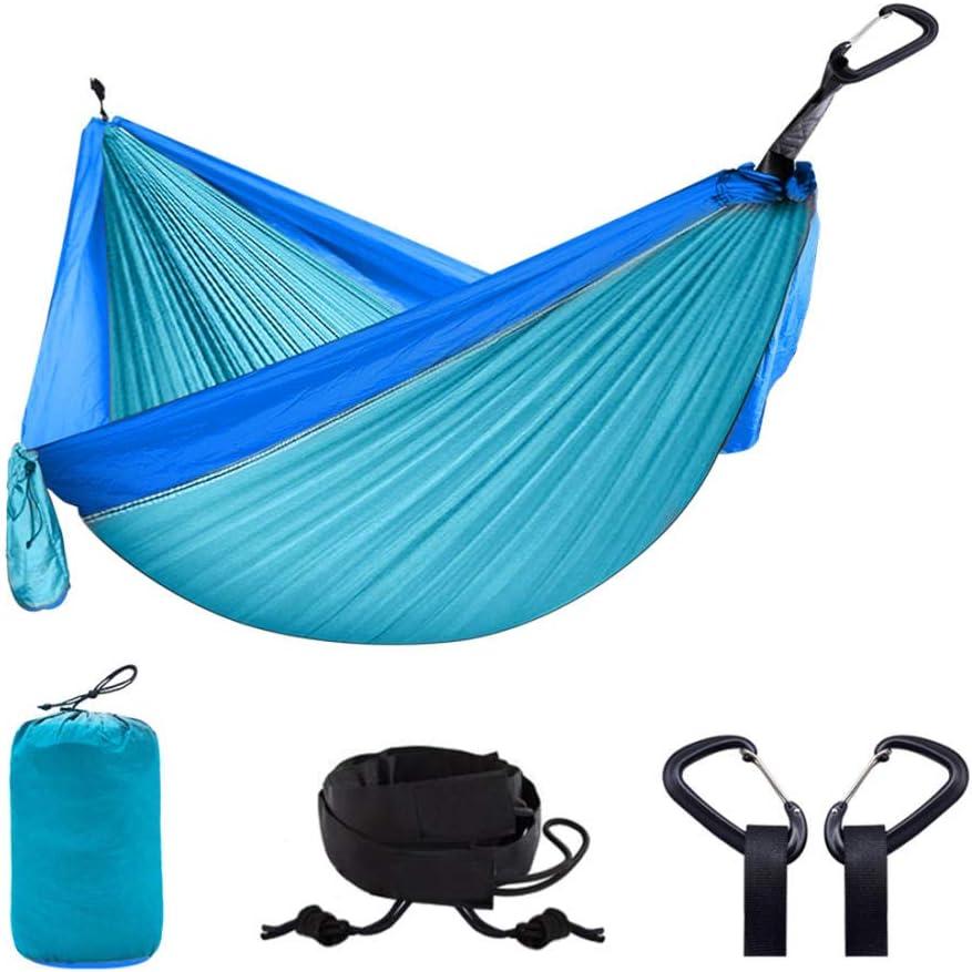 Adatta per Backpackers da Esterno in Campeggio E Viaggi SHLYXY Amaca Ultraleggera,Paraca/ídas de Nylon 210T con correas de /árbol de hamaca,Realizzata in Nylon Paracadute