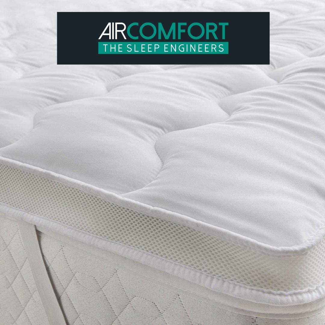 AirComfort/™ Temperature Control Air-Flow Mattress Topper Single 3FT