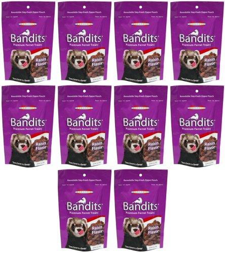 Marshall Bandits Ferret Treat Raisin 1.875lbs (10 x 3oz) by Marshall