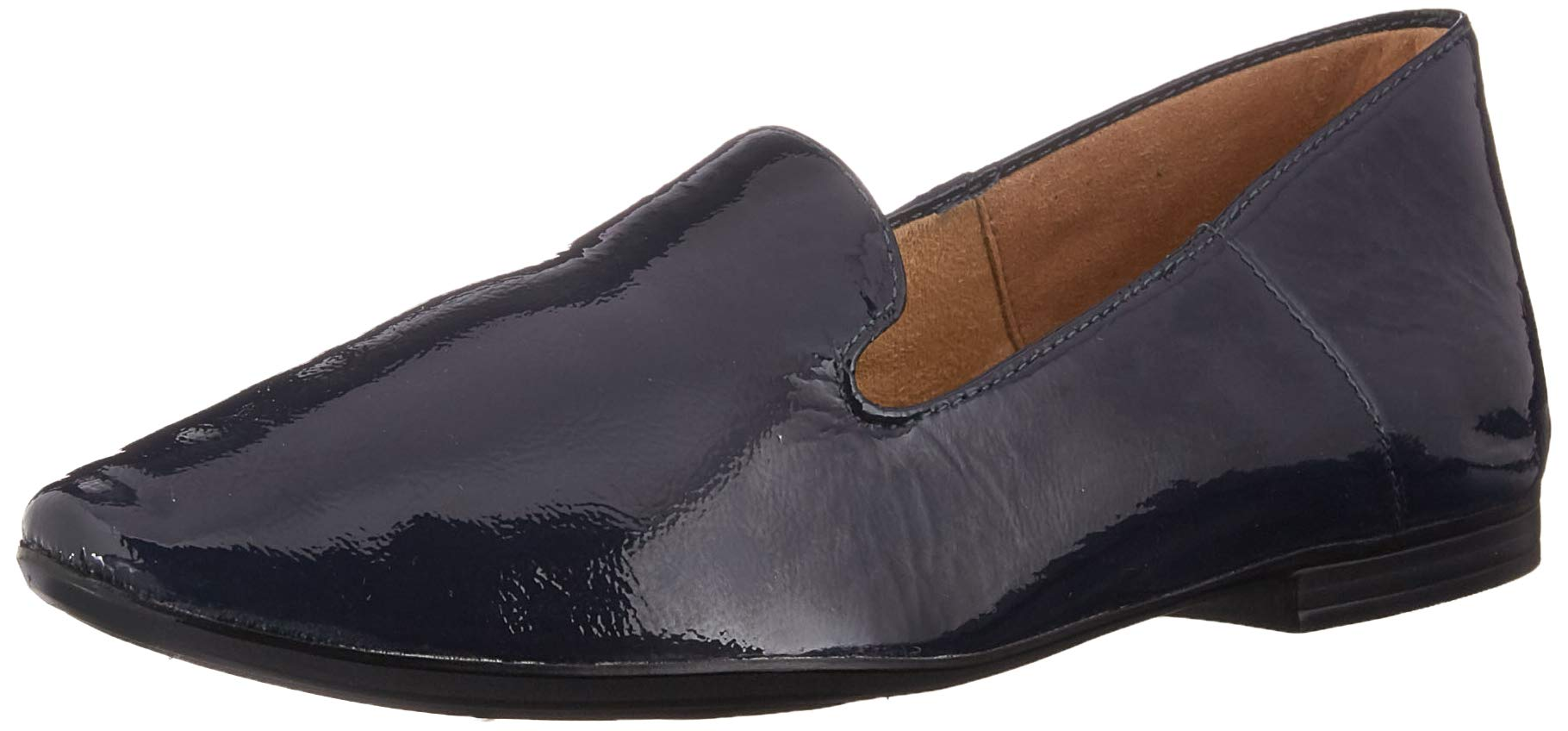 Naturalizer Women's Lorna Ballet Flat, Inky Navy Patent, 8 M US by Naturalizer