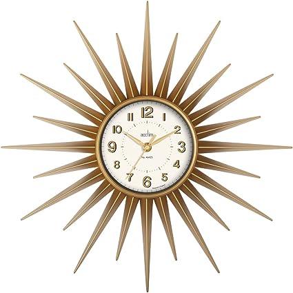 Acctim 21760 Stella Sprayed Starburst Wall Clock Gold Amazon Co Uk Kitchen Home
